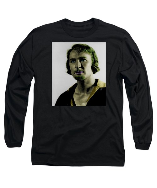 Errol Flynn In Color Long Sleeve T-Shirt by Emme Pons