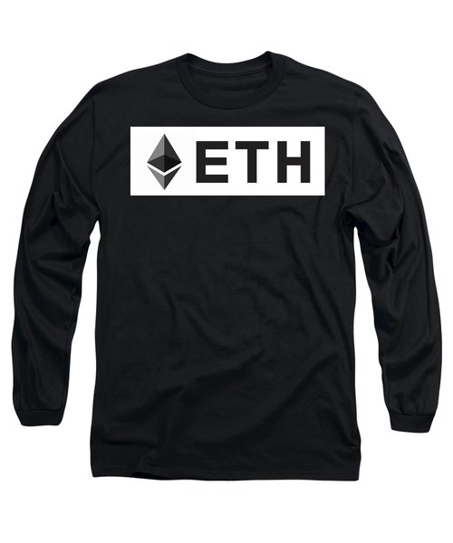 Ethereum E T H Cryptocurrency Long Sleeve T-Shirt