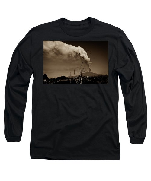 Long Sleeve T-Shirt featuring the photograph Etna, The Volcano by Bruno Spagnolo