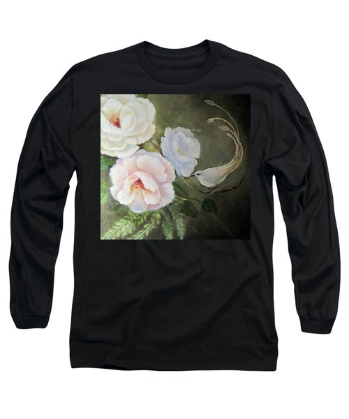 Long Sleeve T-Shirt featuring the painting Etre Fleur  by Patricia Schneider Mitchell