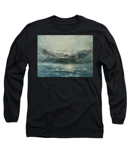 Even If The Skies Get Rough Long Sleeve T-Shirt by Jane See