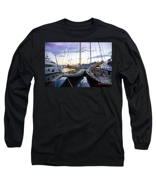 Evening At Harbor  Long Sleeve T-Shirt