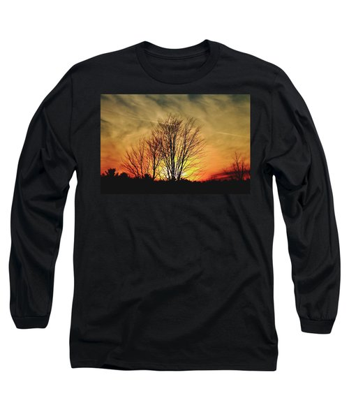 Evening Fire Long Sleeve T-Shirt by Bruce Patrick Smith