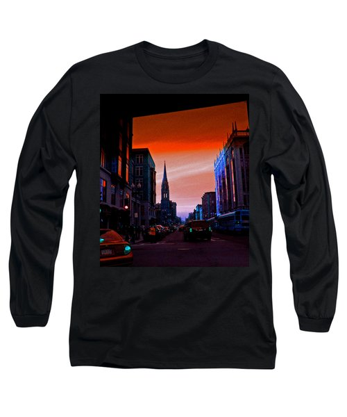 Evening In Boston Long Sleeve T-Shirt