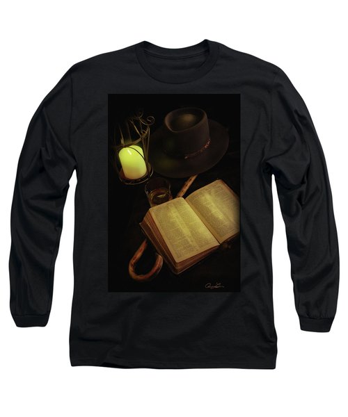 Long Sleeve T-Shirt featuring the photograph Evening Reading by Ann Lauwers