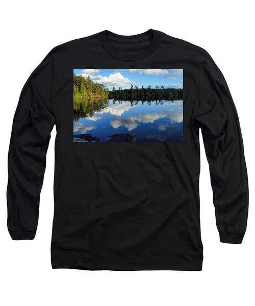 Evening Reflections On Spoon Lake Long Sleeve T-Shirt by Larry Ricker
