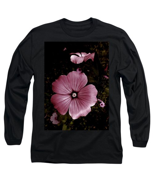 Evening Rose Mallow Long Sleeve T-Shirt by Danielle R T Haney