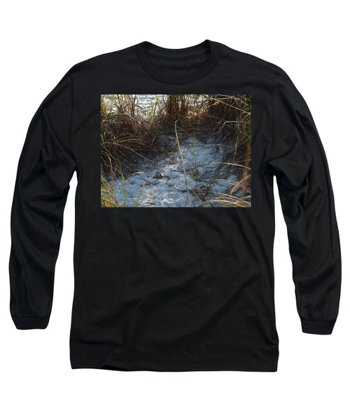 Long Sleeve T-Shirt featuring the photograph Everything Grows In The Sand by Robert Margetts