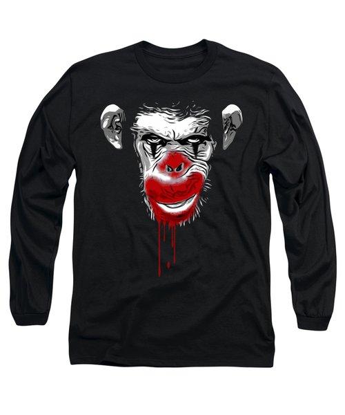 Evil Monkey Clown Long Sleeve T-Shirt by Nicklas Gustafsson