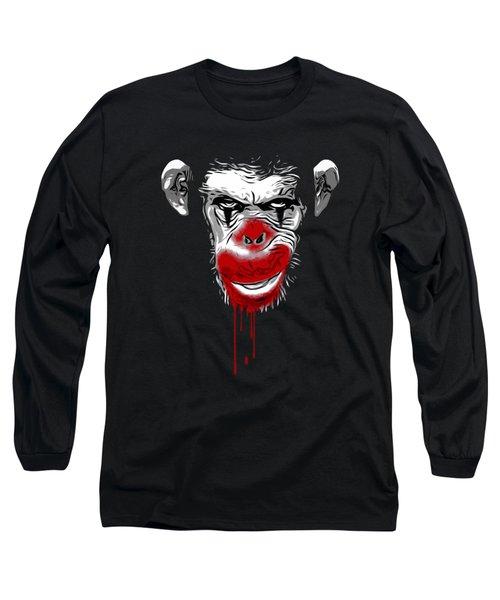 Evil Monkey Clown Long Sleeve T-Shirt