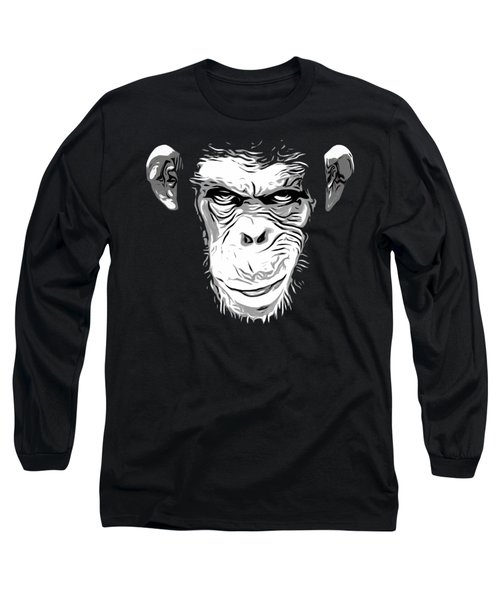 Evil Monkey Long Sleeve T-Shirt by Nicklas Gustafsson