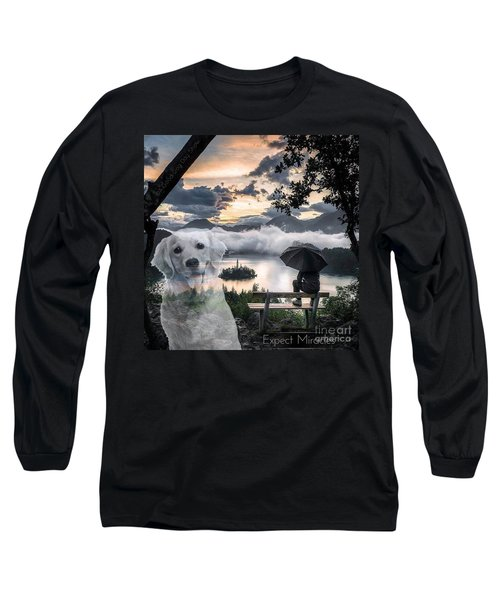 Long Sleeve T-Shirt featuring the digital art Expect Miracles by Kathy Tarochione