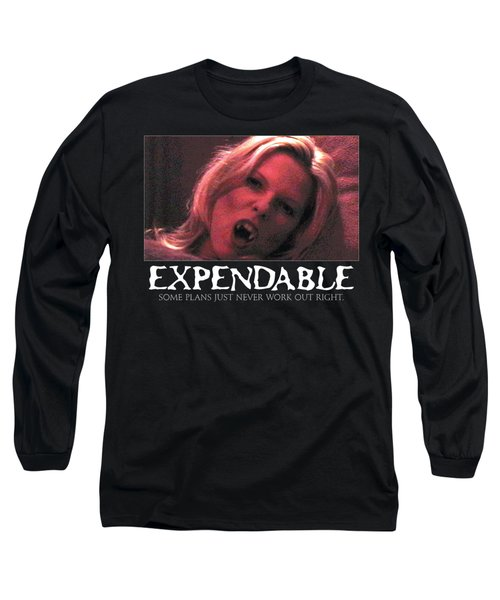 Expendable 1 - Black Long Sleeve T-Shirt by Mark Baranowski