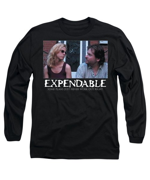 Expendable 2 - Black Long Sleeve T-Shirt by Mark Baranowski