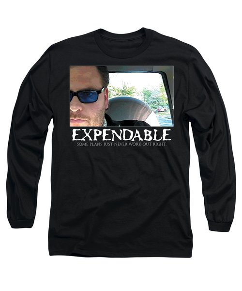 Expendable 3 - Black Long Sleeve T-Shirt by Mark Baranowski