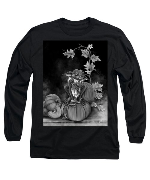 Long Sleeve T-Shirt featuring the painting Explain Yourself - Black And White Fantasy Art by Raphael Lopez