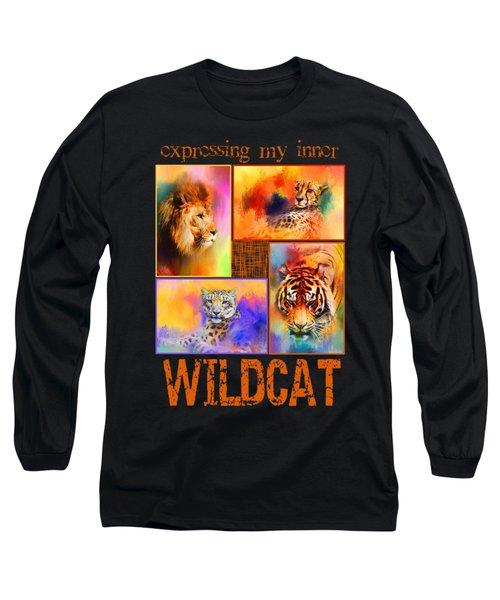 Expressing My Inner Wildcat Long Sleeve T-Shirt by Jai Johnson