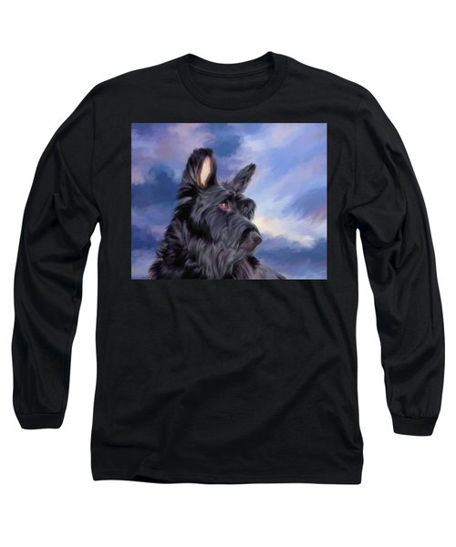 Expression Is Everything Scottish Terrier Dog Long Sleeve T-Shirt