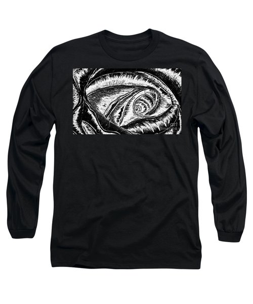 A0216a Expressive Abstract Black And White Long Sleeve T-Shirt