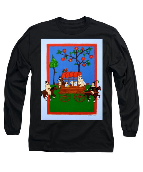 Long Sleeve T-Shirt featuring the painting Expulsion Of The Jews For M Spain by Stephanie Moore