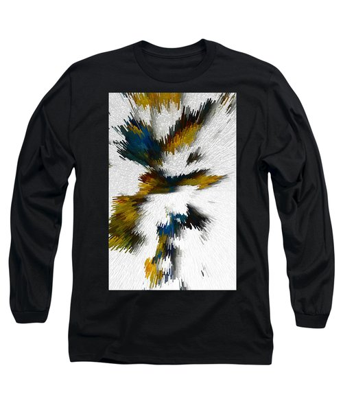 Long Sleeve T-Shirt featuring the digital art Sculptural Series Digital Painting 612.102310extrusion by Kris Haas