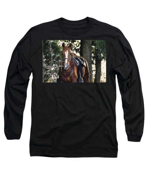 Eye Contact Long Sleeve T-Shirt by Stacy C Bottoms