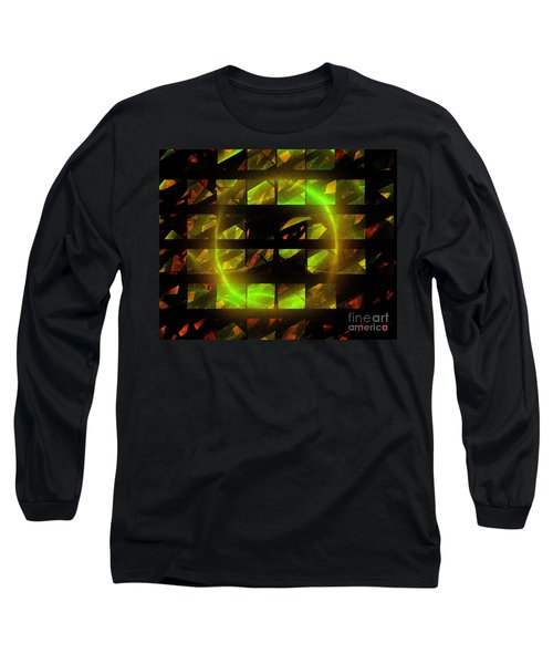 Long Sleeve T-Shirt featuring the digital art Eye In The Window by Victoria Harrington