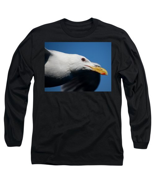 Eye Of A Seagull Long Sleeve T-Shirt by Sumoflam Photography