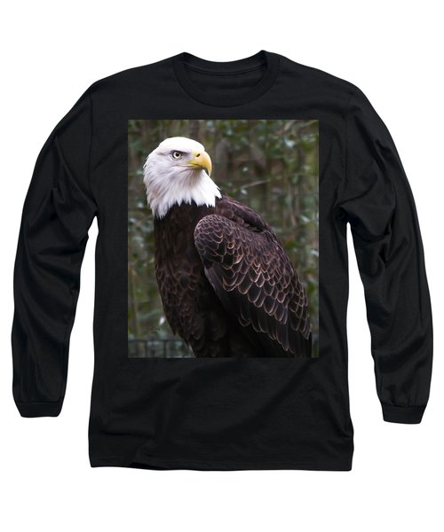 Eye Of The Eagle Long Sleeve T-Shirt by Trish Tritz