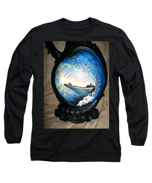 Eye Of The Wave 1 Long Sleeve T-Shirt by Sharon Duguay