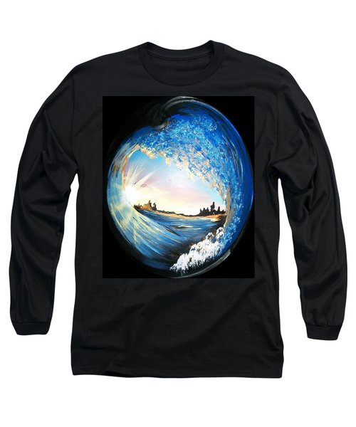 Eye Of The Wave Long Sleeve T-Shirt by Sharon Duguay