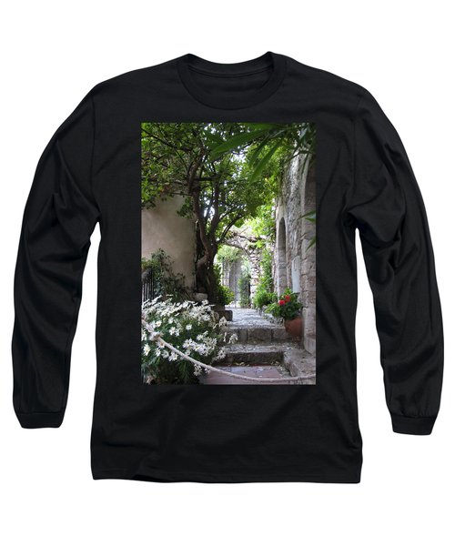 Long Sleeve T-Shirt featuring the photograph Eze Passageway by Carla Parris