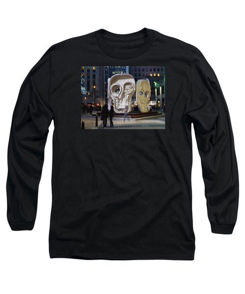 Long Sleeve T-Shirt featuring the photograph Faces by Helen Haw
