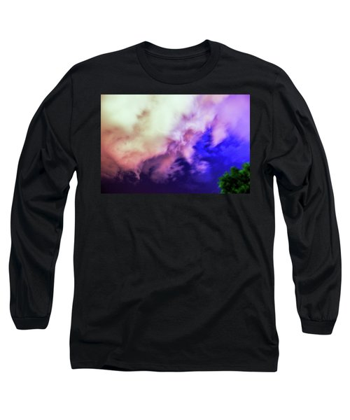 Faces In The Clouds 002 Long Sleeve T-Shirt