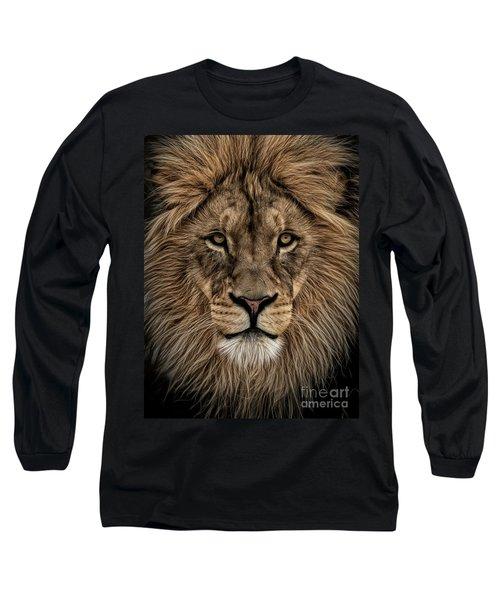 Facing Courage Long Sleeve T-Shirt by Brad Allen Fine Art