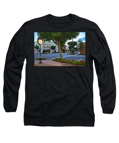Fairhope Ave With Clock Long Sleeve T-Shirt
