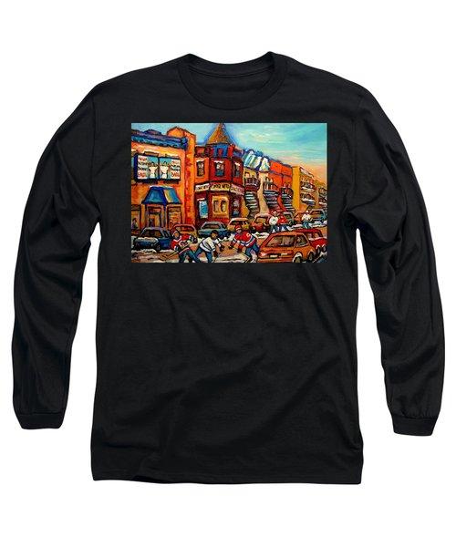 Fairmount Bagel With Hockey Long Sleeve T-Shirt