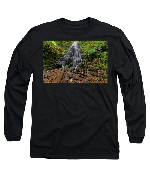 Long Sleeve T-Shirt featuring the photograph Fairy Falls by Jonathan Davison
