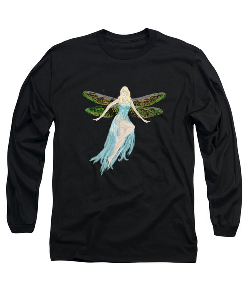 Fairy In The Blue Dress Long Sleeve T-Shirt