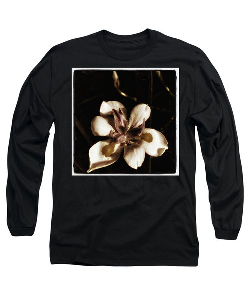 Long Sleeve T-Shirt featuring the photograph Fairy Iris. A Butterfly Landed On My by Mr Photojimsf