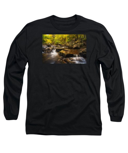 Long Sleeve T-Shirt featuring the photograph Fall At Gunstock Brook by Robert Clifford