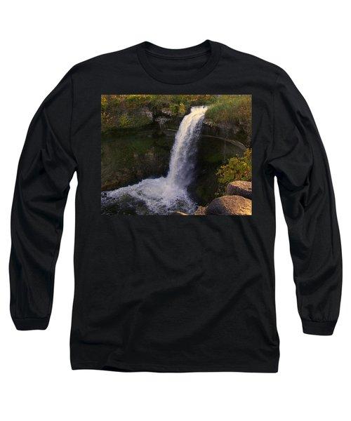 Fall At Minnehaha Falls Long Sleeve T-Shirt
