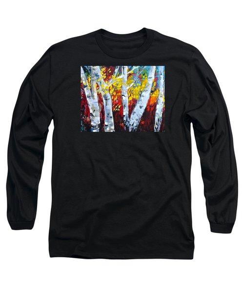 Fall Birch Trees Long Sleeve T-Shirt