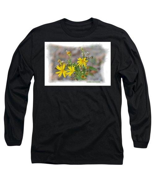 Fall Bloom In Texas I Long Sleeve T-Shirt by Carolina Liechtenstein
