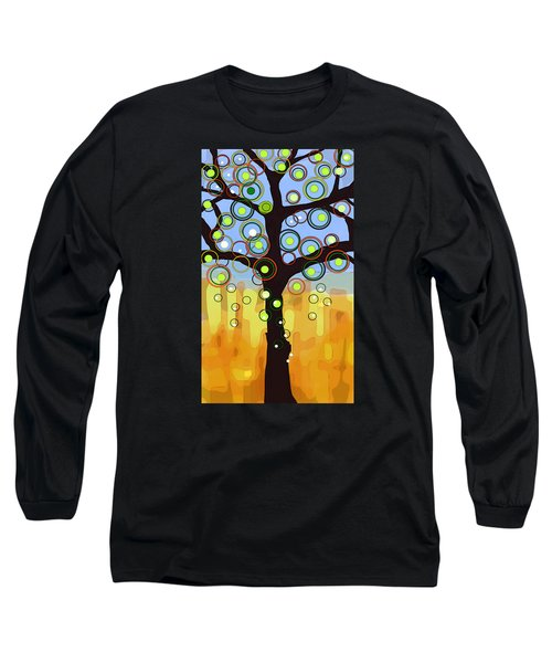 Long Sleeve T-Shirt featuring the painting Fall Circles by Patricia Arroyo