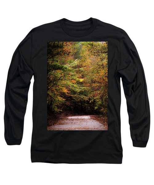 Long Sleeve T-Shirt featuring the photograph Fall Colors On The Trail by Shelby Young