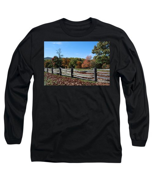 Fall Fence Long Sleeve T-Shirt by Eric Liller