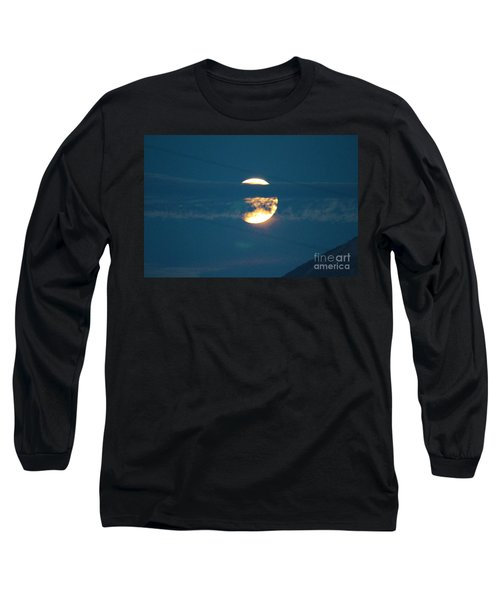 Fall Harvest Hunters Moon Eclipse  Long Sleeve T-Shirt