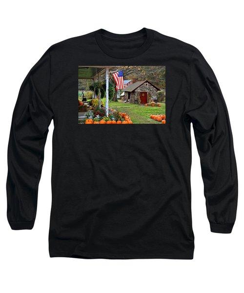 Long Sleeve T-Shirt featuring the photograph Fall Harvest - Rural America by DJ Florek