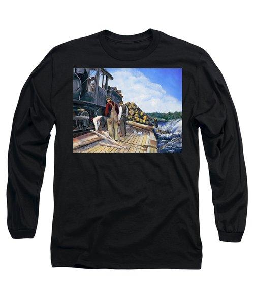 Fall Lake Train Long Sleeve T-Shirt